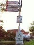 Bike signposts