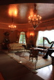 Living Room with Harp, Pittock Mansion, Portland, Oregon