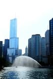 Chicago river, Trump Tower, Wrigley building, Chicago