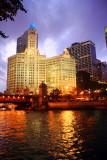 Wrigley building, Chicago River