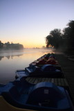 Boats dock, Sunrise, Sunset Lakes Resort, Joslin, IL