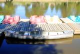 Boats docked, Sunset Lakes Resort, Joslin, IL