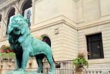 Lion statue, Art Institute of Chicago