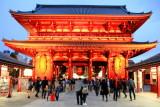 Kaminarimon gate, Sensoji, Kinryū-zan Sensō-ji, Buddhist Temple, built 628 AD, Asakusa, Taitō, Tokyo, Japan