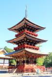 Three storied pagoda, Narita-san Shinshō-ji Temple, Narita, Japan