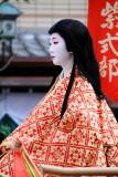Sei-Shonagon wearing a Juni-hitoe, Ladies from the Heian Period (794-1185), Jidai Matsuri Festival, Kyoto, Japan