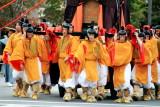 Shinko-Retsu, Palanquin carrying holy spirit of Emperor Komei, Jidai Matsuri Festival, Kyoto, Japan
