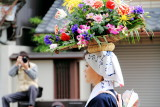 Shirakawa-me dedicating flowers to the Shrine, Jidai Matsuri Festival, Kyoto, Japan