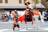 Oda Nobunaga wearing a Kabuto (helmet), (1658 - 1600), Jidai Matsuri Festival, Kyoto, Japan