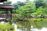 Fishing deck, Kinkaku-ji, Temple of the Golden Pavilion, Kyoto, Japan