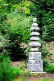 Pillar, Rokuon-ji Temple, Kinkaku-ji,  Kyoto, Japan