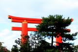 Heian Jingu Shrine, Torii, Kyoto, Japan