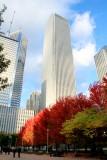Fall, Aon Tower, Millennium Park, Chicago, Illinois