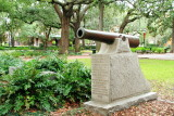 Cannon guarding the beginning of Ogeechee road