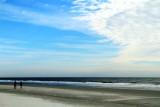 Walk on Coligny beach, Atlantic Ocean