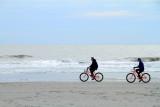 Biking, Coligny beach, Atlantic Ocean