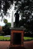 Confederate obelisk behind statute of George Washington. Meeting Place, Charleston Historic District