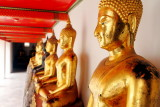 Row of Buddhas, Wat Pho, Temple of the Reclining Buddha