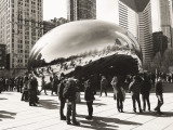 Cloud Gate, Chicago, Black and White