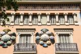 Umbrella windows, La Rambla, Barcelona, Spain