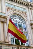 Spanish flag, Teatre del Liceu, Barcelona, Spain