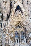 Nativity facade, Sagrada Familia, Antoni Gaudi, Barcelona, Spain