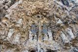 Nativity facade, Portal of Charity, Angelic Hymn, Sagrada Familia, Antoni Gaudi, Barcelona, Spain