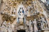 Nativity facade, Portal of Faith, The Finding in the temple, Sagrada Familia, Antoni Gaudi, Barcelona, Spain