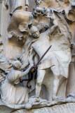 Nativity facade, Portal of Hope, The Massacre of the Innocents, Sagrada Familia, Antoni Gaudi, Barcelona, Spain