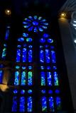 Stained glass, , Sagrada Familia, Antoni Gaudi, Barcelona, Spain