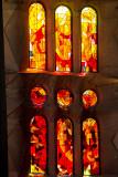 Stained Glass, Sagrada Familia, Antoni Gaudi, Barcelona, Spain
