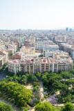 View of Barcelona, Spain from Sagrada Familia
