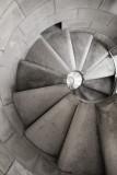 Passion tower spiral steps, Sagrada Familia, Barcelona, Spain