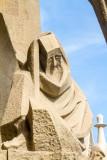 Passion Facade, Sagrada familia, Antoni Gaudi, Barcelona, Spain