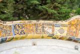 Mosaic, Benches, Park Guell, Antoni Gaudi, Barcelona, Spain