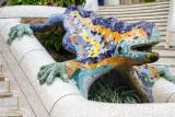 Salamander, popularly known as el drac (the dragon), Park Guell, Antoni Gaudi, Barcelona, Spain
