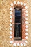 Window, mosaic, Park Guell, Antoni Gaudi, Barcelona, Spain