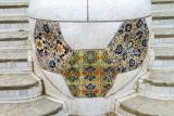 Mosaic, Park Guell, Antoni Gaudi, Barcelona, Spain
