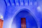 Blue room, Casa del Guardo, Park Guell, Antoni Gaudi, Barcelona, Spain