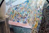 Mosaic, Exterior, Park Guell, Antoni Gaudi, Barcelona, Spain