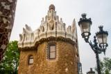 Lamp post, Park Guell, Antoni Gaudi, Barcelona, Spain