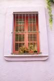 Window, Park Guell, Antoni Gaudi, Barcelona, Spain