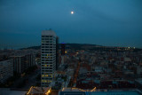 Night sky, Barcelona, Spain