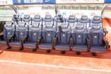 Players box, Camp Nou, Barcelona, Spain