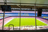 View from press box, Camp Nou, Barcelona, Spain