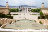 View of Barcelona from Palau Nacional, , Spain