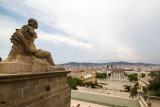 Statue, Palau Nacional, Barcelona, Spain