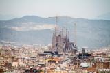 Construction on Sagrada familia, Barcelona, Spain