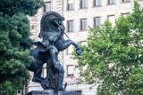 Wisdom allegory sculpture, Placa de Catalunya, Barcelona, Spain