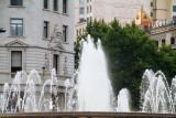 Placa de Catalunya, Fountain, Barcelona, Spain